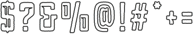 Blakstone Outline otf (400) Font OTHER CHARS