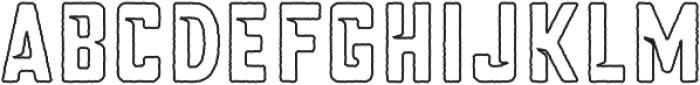 Blakstone Outline otf (400) Font LOWERCASE