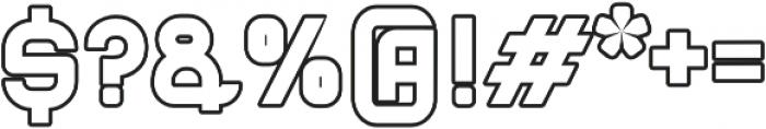 Blame Outline ttf (400) Font OTHER CHARS