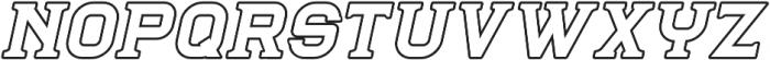 Blame Serif 2 Outline ttf (400) Font UPPERCASE