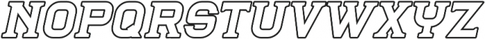 Blame Serif 2 Outline ttf (400) Font LOWERCASE