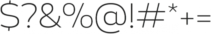 Blanc Ultralight otf (300) Font OTHER CHARS