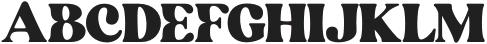 BlanchSage-Bold otf (700) Font UPPERCASE