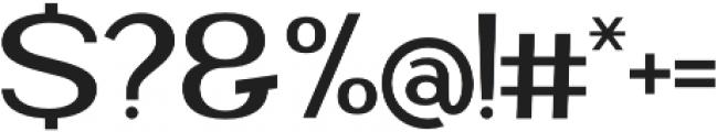 Blante Panama Sans otf (400) Font OTHER CHARS