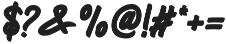 Blarrack Hand otf (800) Font OTHER CHARS