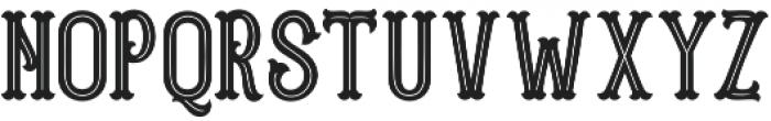Blastrick Normal Inline otf (400) Font UPPERCASE