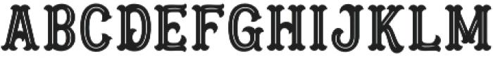 Blastrick Normal Inline otf (400) Font LOWERCASE