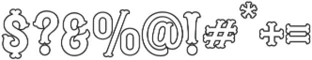 Blastrick Normal Outline ttf (400) Font OTHER CHARS