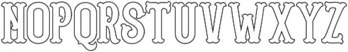Blastrick Normal Outline ttf (400) Font UPPERCASE