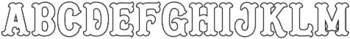 Blastrick Normal Outline ttf (400) Font LOWERCASE