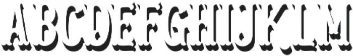 Blastrick Normal Shadow ttf (400) Font UPPERCASE