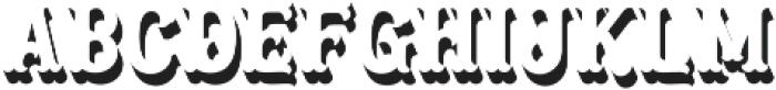 Blastrick Normal Shadow ttf (400) Font LOWERCASE