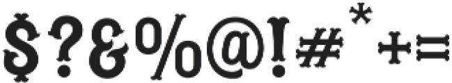 Blastrick Normal otf (400) Font OTHER CHARS