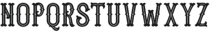 Blastrick Special Inline otf (400) Font UPPERCASE