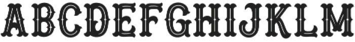 Blastrick Special Inline otf (400) Font LOWERCASE