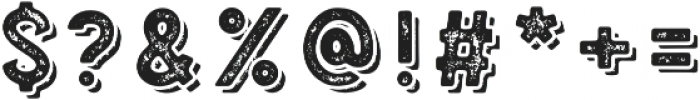 Blatchford Grunge Shadow otf (400) Font OTHER CHARS