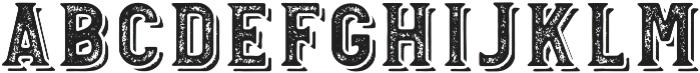 Blatchford Grunge Shadow otf (400) Font LOWERCASE