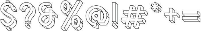 Bledug Wireframe ttf (400) Font OTHER CHARS
