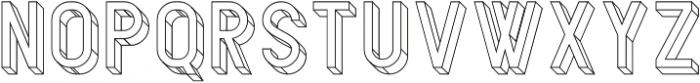 Bledug Wireframe ttf (400) Font UPPERCASE