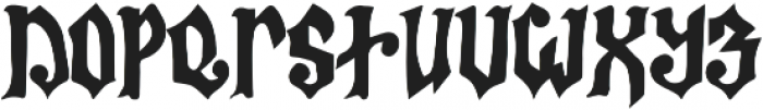 Bless The Witches ttf (400) Font UPPERCASE