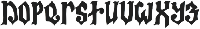 Bless The Witches ttf (400) Font LOWERCASE