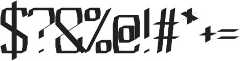 Blessed regular otf (400) Font OTHER CHARS