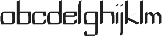 Blessed regular otf (400) Font LOWERCASE