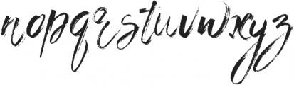 BlessedPrint KissMe ttf (400) Font LOWERCASE