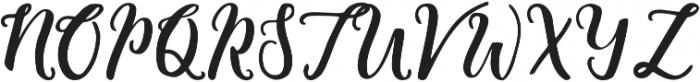 Blessing Regular otf (400) Font UPPERCASE