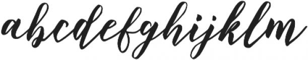 Blessing Regular otf (400) Font LOWERCASE