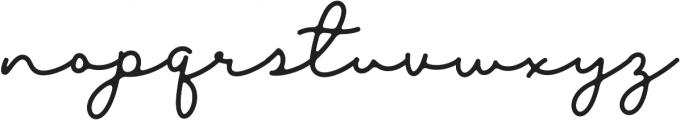 Blesson otf (400) Font LOWERCASE