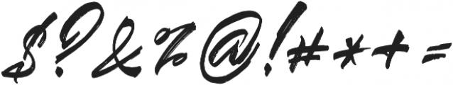 Blinded alt otf (400) Font OTHER CHARS