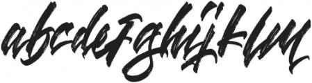Blinded otf (400) Font LOWERCASE