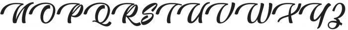 Blington  Regular otf (400) Font UPPERCASE