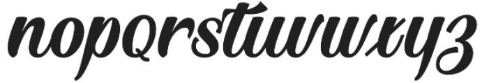 Blington  Regular otf (400) Font LOWERCASE