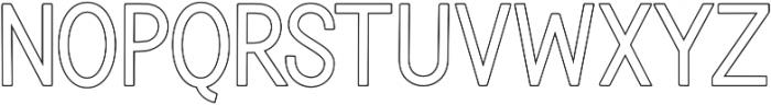 Blinkstar Sans Outline Regular otf (400) Font UPPERCASE