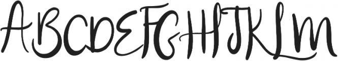 Blissfully otf (400) Font UPPERCASE