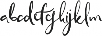 Blissfully otf (400) Font LOWERCASE