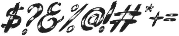 Bllody Rainan Rough otf (400) Font OTHER CHARS
