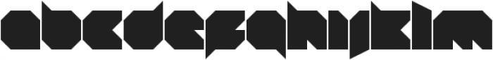 Blob Square otf (400) Font LOWERCASE