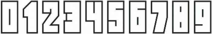 Block Head Outline otf (400) Font OTHER CHARS