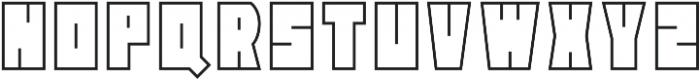 Block Head Outline otf (400) Font UPPERCASE