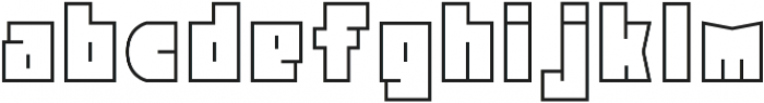 Block Head Outline otf (400) Font LOWERCASE