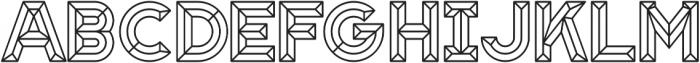 Block Line otf (400) Font UPPERCASE