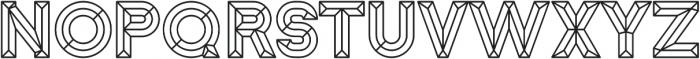 Block Line otf (400) Font LOWERCASE