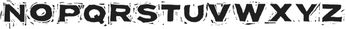 Block Print ttf (400) Font UPPERCASE