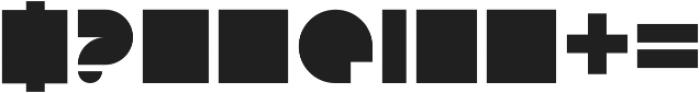 Blockino_NeonGreen Regular otf (400) Font OTHER CHARS