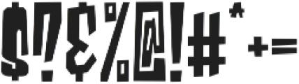 Blocky Regular otf (400) Font OTHER CHARS