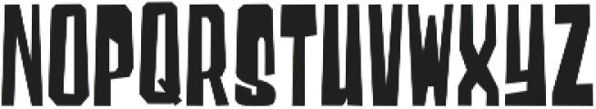 Blocky Regular otf (400) Font UPPERCASE