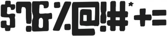 Blocky otf (400) Font OTHER CHARS